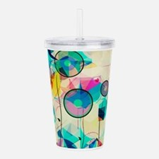 Cute Abstract art Acrylic Double-wall Tumbler