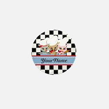 Personalized Chef Owls Mustache Mini Button