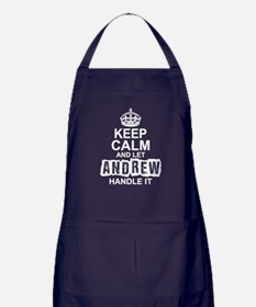 Keep Calm And Let Andrew Handle It Apron (dark)