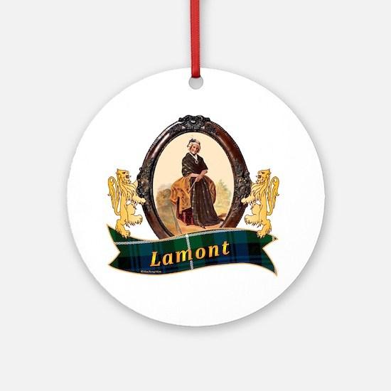 Lamont Clan Round Ornament