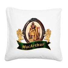 MacArthur Clan Square Canvas Pillow
