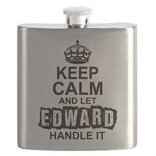Keep Calm And Let Edward Handle It Flask