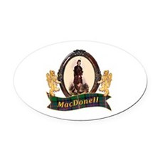 MacDonnell of Glengarry Clan Oval Car Magnet