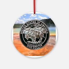 Yellowstone Silver Dollar Ornament (Round)