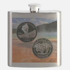 Yellowstone Silver Dollar Flask