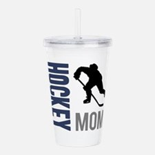 Cute Hockey mom Acrylic Double-wall Tumbler