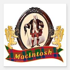 """MacIntosh Clan Square Car Magnet 3"""" x 3"""""""