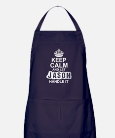 Keep Calm and Let Jason Handle It Apron (dark)