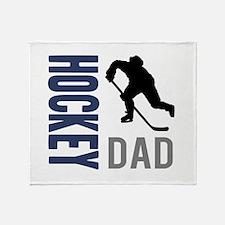 Cute Dad hockey Throw Blanket