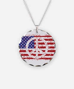 Unique Peace flag Necklace