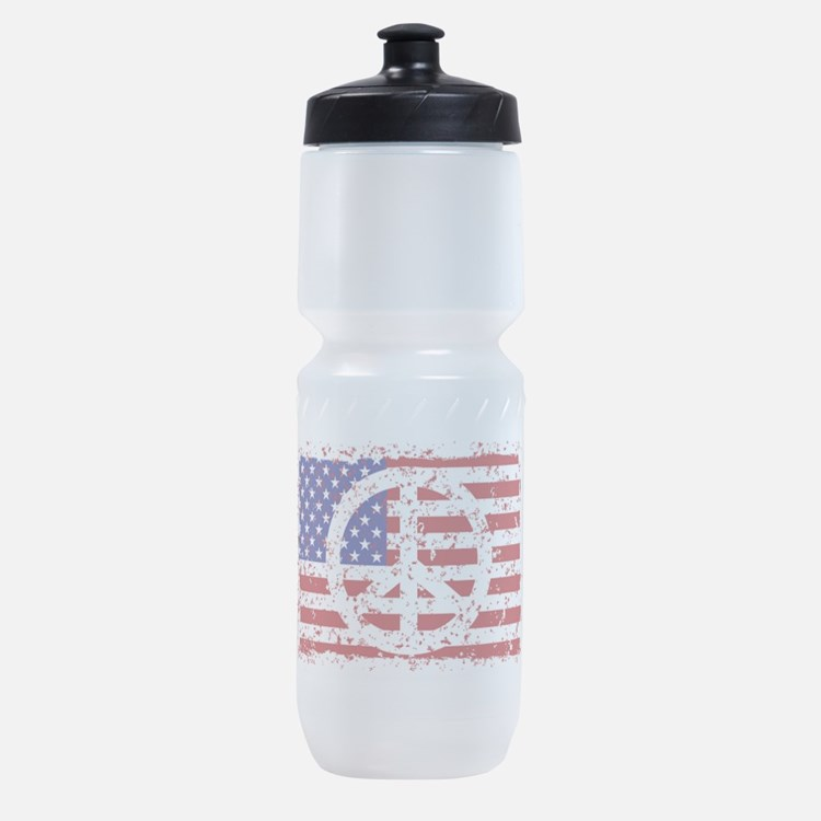 Cute Peace and stars Sports Bottle