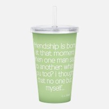 Cute Friendship and or best friends Acrylic Double-wall Tumbler