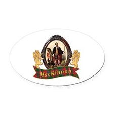 MacKinnon Clan Oval Car Magnet