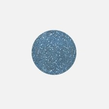 Blue Sparkle Glitter Shiny Pattern Mini Button