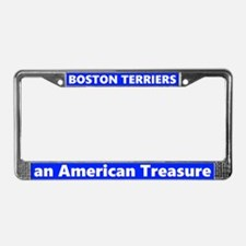 Boston Terriers A Treasure License Plate Frame