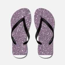 Purple Sparkle Glitter Shiny Pattern Flip Flops