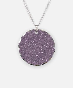 Purple Sparkle Glitter Shiny Pattern Necklace