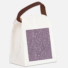 Purple Sparkle Glitter Shiny Pattern Canvas Lunch