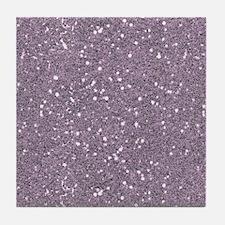 Purple Sparkle Glitter Shiny Pattern Tile Coaster