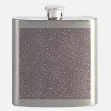 Purple Sparkle Glitter Shiny Pattern Flask