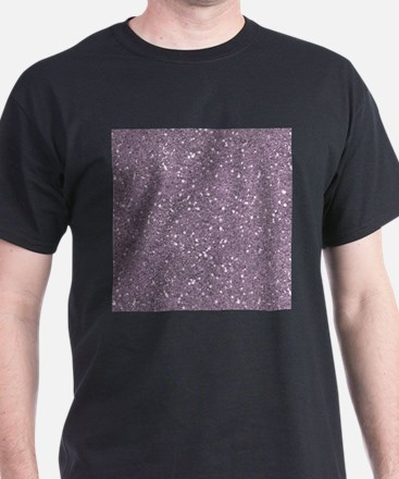 Purple Sparkle Glitter Shiny Pattern T-Shirt