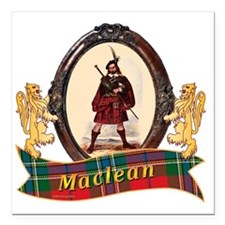 "Maclean Clan Square Car Magnet 3"" x 3"""