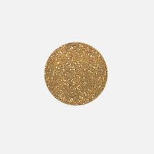 Gold Sparkle Glitter Shiny Pattern Mini Button