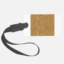 Gold Sparkle Glitter Shiny Pattern Luggage Tag