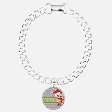 Chevron Christmas Owl Pe Bracelet