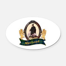 MacLeod Clan Oval Car Magnet