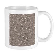 Taupe Brown Gray Sparkle Glitter Shiny Pattern Mug