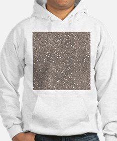 Taupe Brown Gray Sparkle Glitter Shiny Pattern Hoo