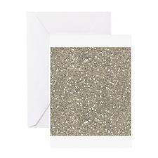 Silver Sparkle Glitter Shiny Pattern Greeting Card