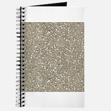 Silver Sparkle Glitter Shiny Pattern Journal