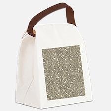 Silver Sparkle Glitter Shiny Pattern Canvas Lunch