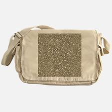 Silver Sparkle Glitter Shiny Pattern Messenger Bag