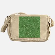 Green Sparkle Glitter Shiny Pattern Messenger Bag