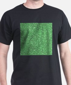 Green Sparkle Glitter Shiny Pattern T-Shirt