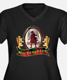 MacNaughton  Women's Plus Size V-Neck Dark T-Shirt