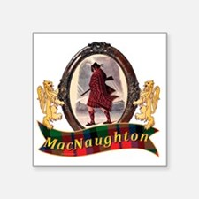 "MacNaughton Clan Square Sticker 3"" x 3"""