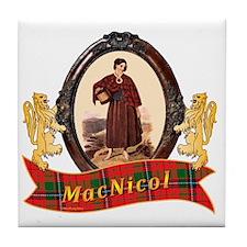 MacNicol Clan Tile Coaster