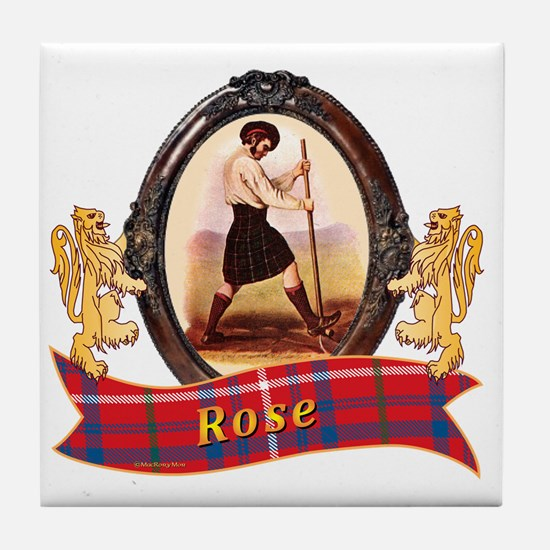 Rose Clan Tile Coaster