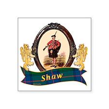 "Shaw Clan Square Sticker 3"" x 3"""