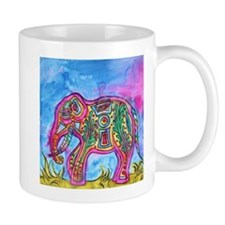 Rainbow Tribal Elephant by Vanessa Curtis Mugs