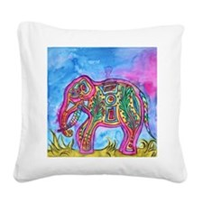 Rainbow Tribal Elephant by Vanessa Curtis Square C