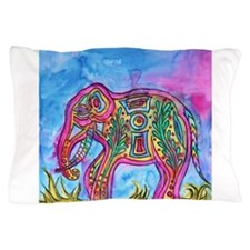 Rainbow Tribal Elephant by Vanessa Curtis Pillow C