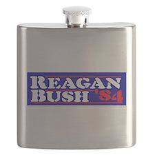 Reagan Bush stencil transparent Flask