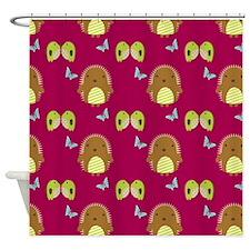 Happy Hedgehogs Shower Curtain