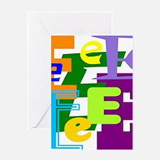 Initial Design (E) Greeting Cards