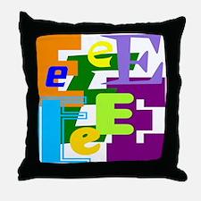 Initial Design (E) Throw Pillow